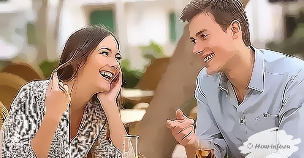 Влюбленный молодой человек ведет себя заинтересованно по отношению к своей избраннице