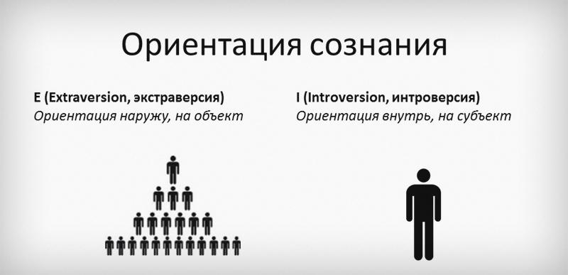 Принцип восприятия окружающего мира экстравертом и интровертом