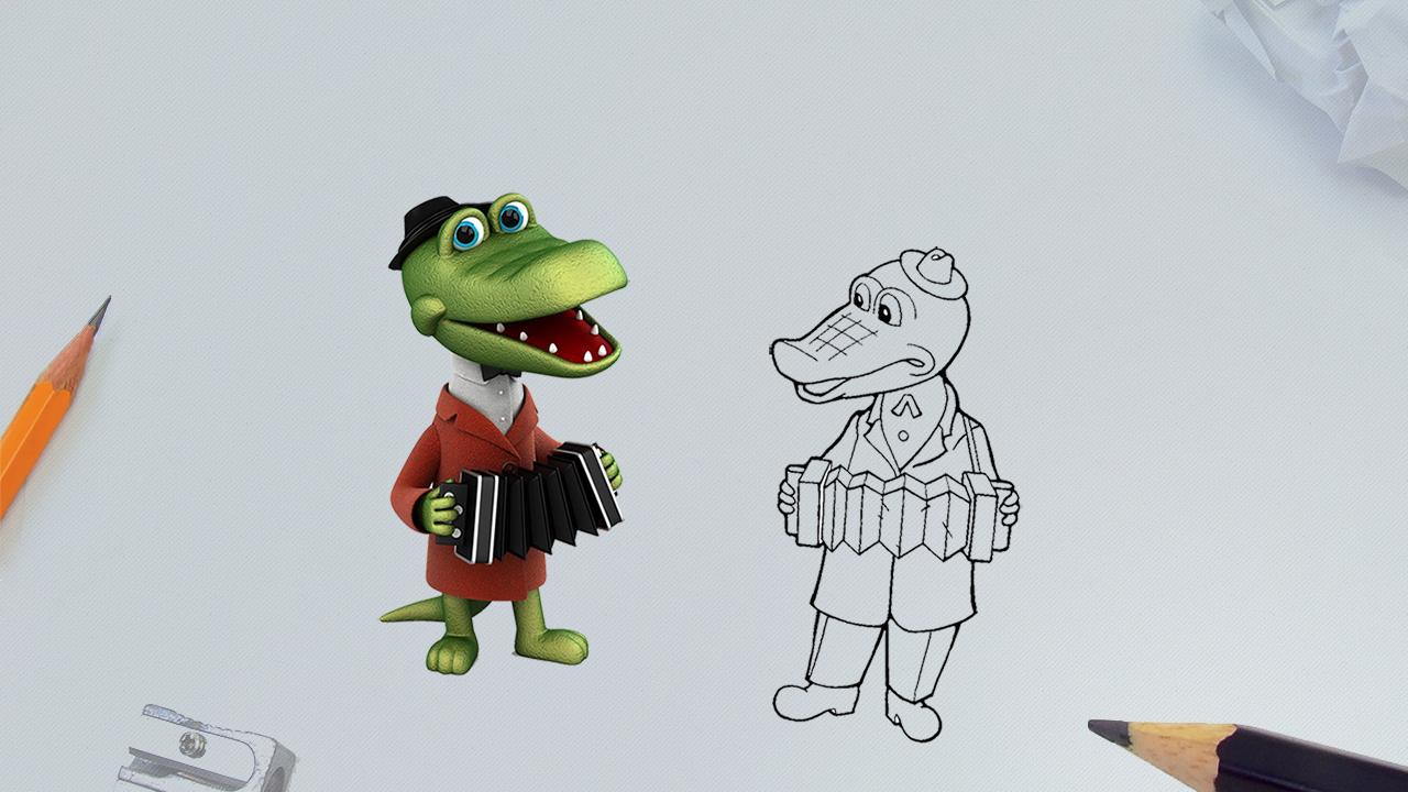 Как нарисовать крокодила Гену