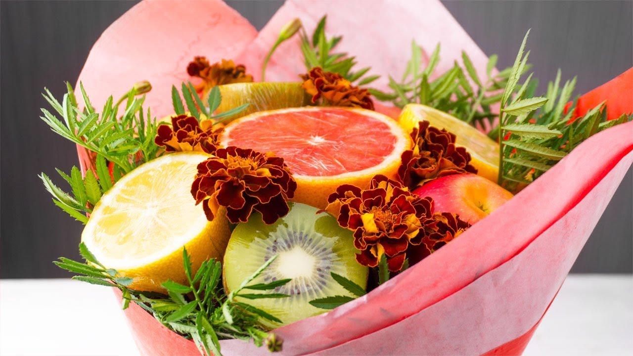 Как сделать букет из фруктов: пошаговая инструкция